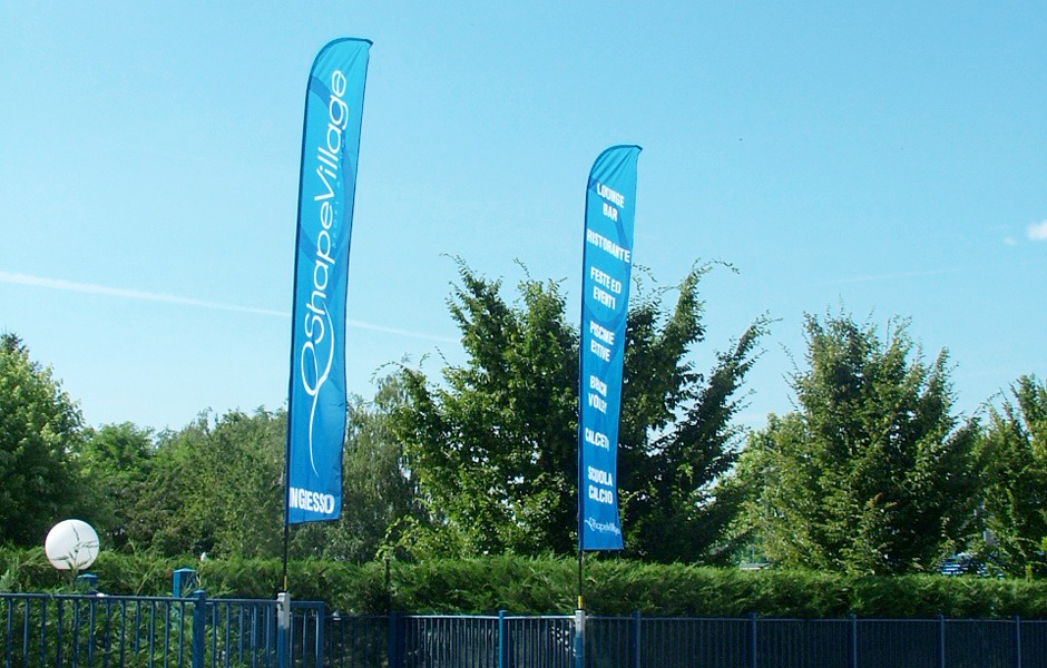 Shape Village Flags