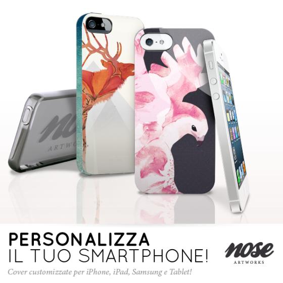 Crea la tua cover personalizzata per il tuo iPhone 5, Samsung Galaxy S4, iPad e tablet.